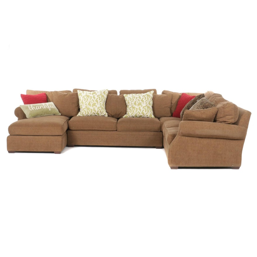 """Arhaus """"Landsbury"""" Four-Piece Sectional Sofa and Pillows."""