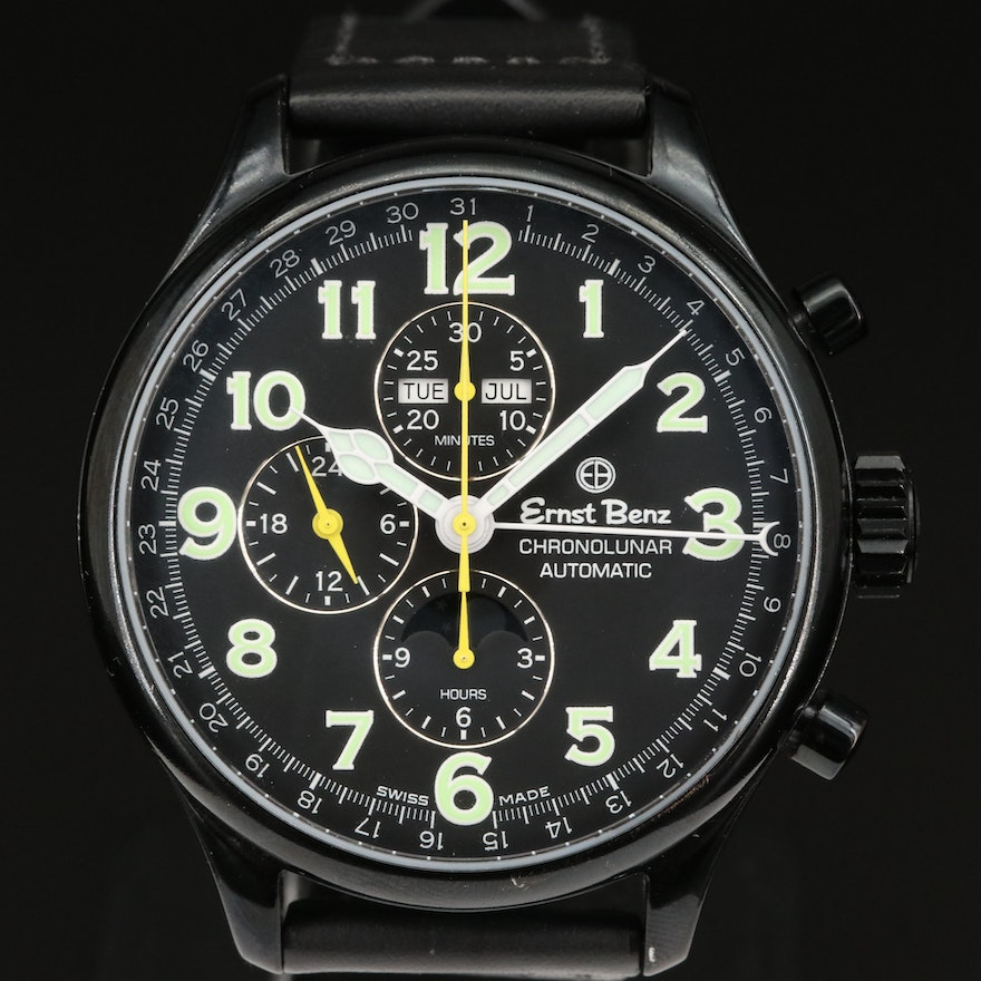 Ernst Benz Chronolunar Stainless Steel and PVD Automatic Wristwatch