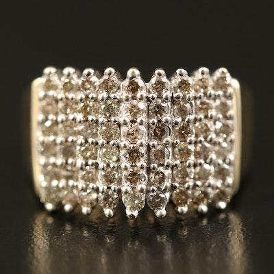 10K 1.00 CTW Diamond Multi-Row Ring
