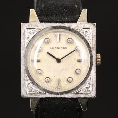 Vintage Longines 14K and Diamond Wristwatch