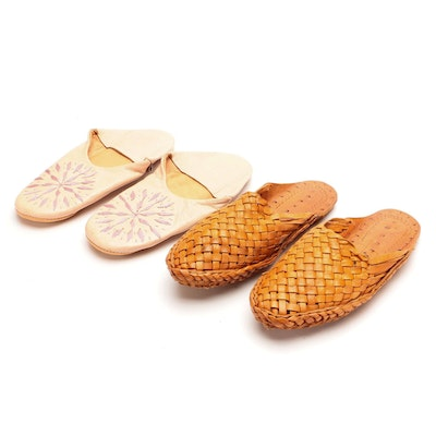 Dear Morocco and Other Embroidered and Woven Leather Slippers