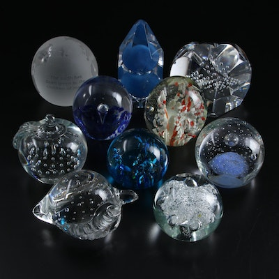 Handcrafted Art Glass and Controlled Bubble Paperweights