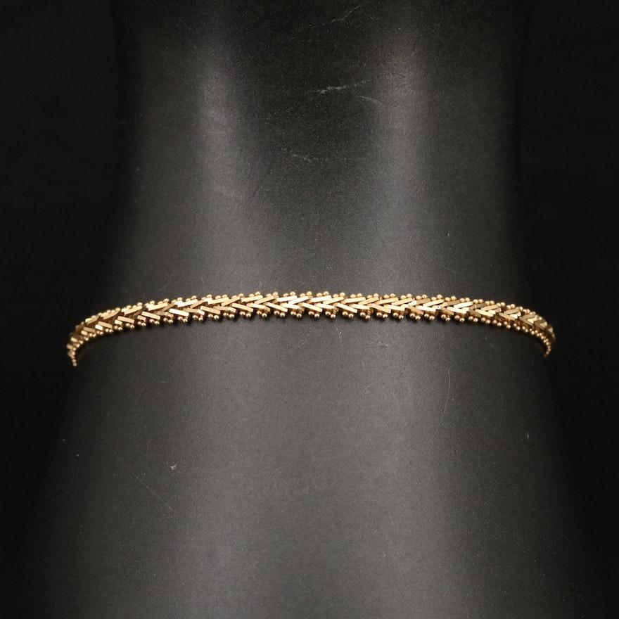 18K Riccio Link Bracelet