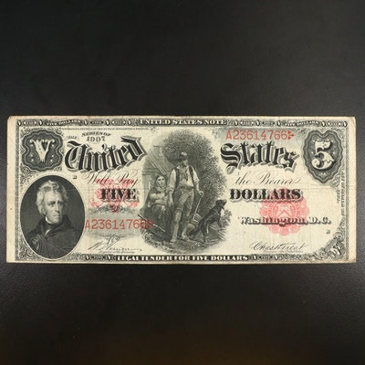 Large-Format Series of 1907 $5 Legal Tender Note