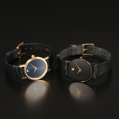 Pair of Movado Museum Piece Wristwatches