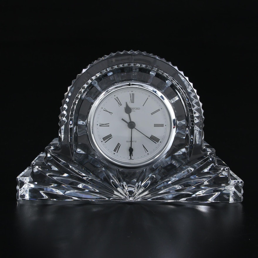 """Waterford """"Wharton"""" Crystal Cottage Clock"""