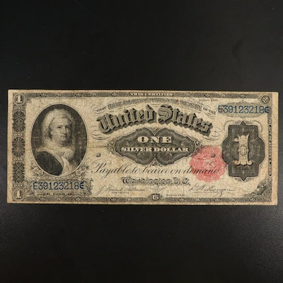 Large-Format Series of 1891 $1 Silver Certificate