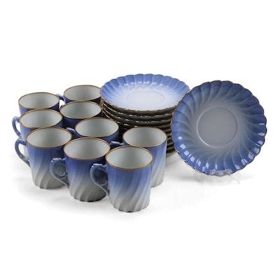 "Norwegian Porsgrund Porcelain ""Maud"" Demitasse Cups and Saucers"