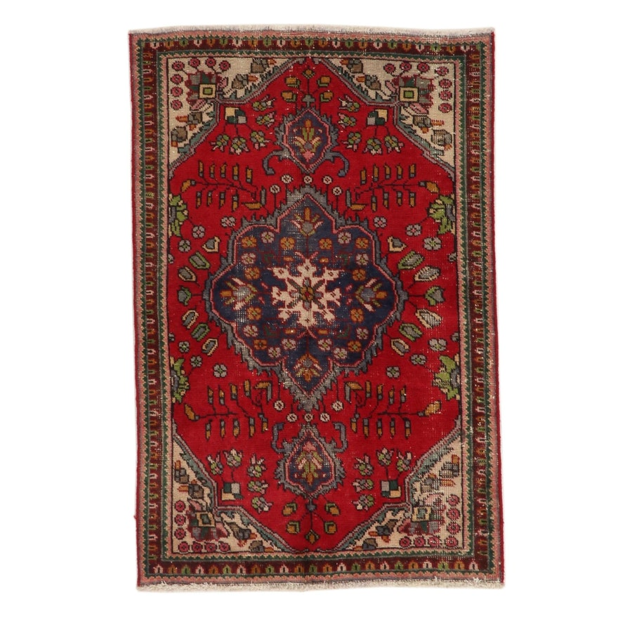 3'1 x 4'9 Hand-Knotted Northwest Persian Floral Area Rug