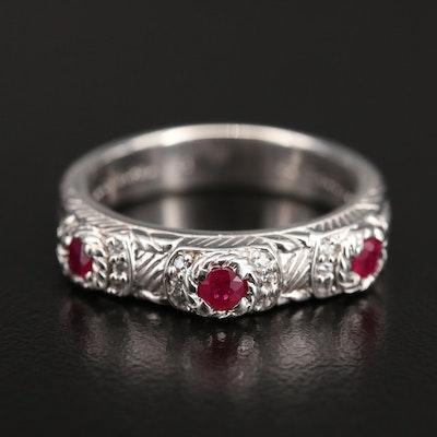 Judith Ripka Sterling Corundum and Cubic Zirconia Ring