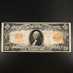 Large-Format Series of 1922 $20 Gold Certificate