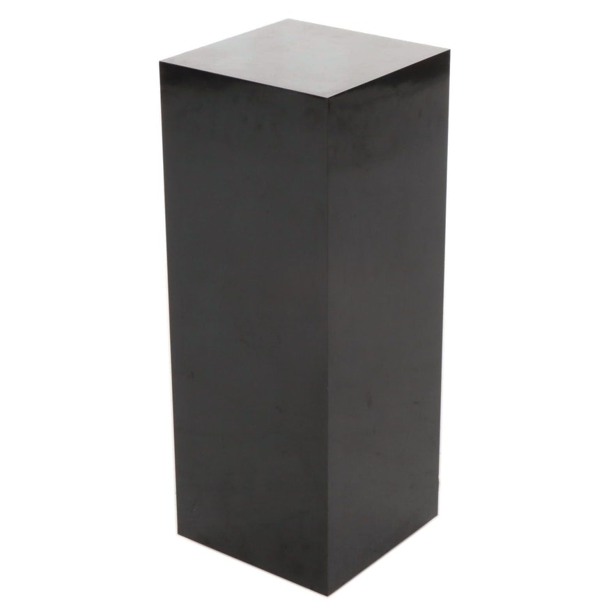 Black Lacquered Pedestal Stand