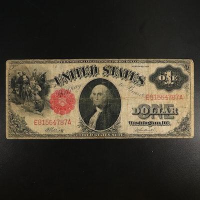 Large-Format Series of 1917 $1 Legal Tender Note