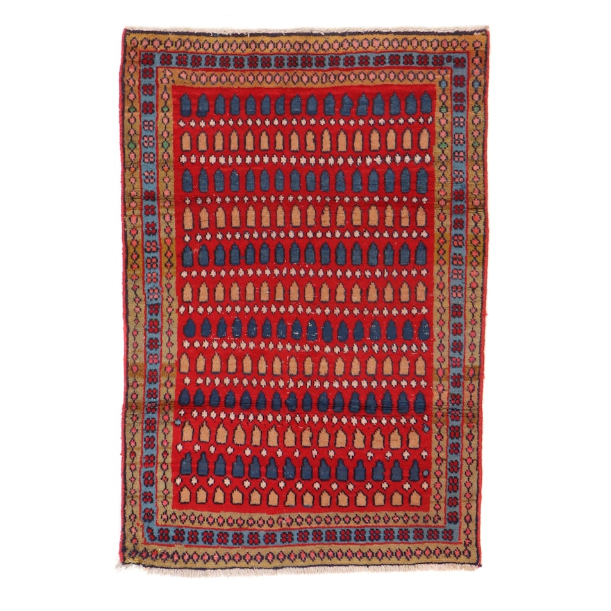3' x 4'7 Hand-Knotted Persian Gabbeh Accent Rug