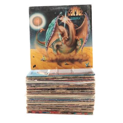 AC/DC, Zappa, Santana, Robin Trower, Peter Frampton and Other LP Vinyl Records