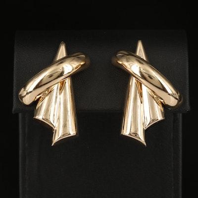 14K Geometric Earrings