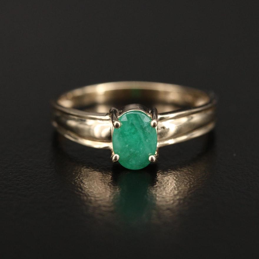 10K Emerald Ring