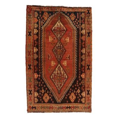 4'8 x 7'8 Hand-Knotted Persian Luri Geometric Area Rug