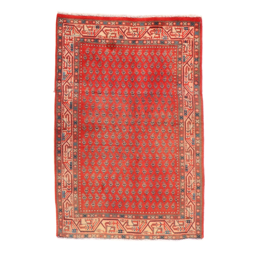 3'3 x 5'2 Hand-Knotted Persian Seraband Accent Rug