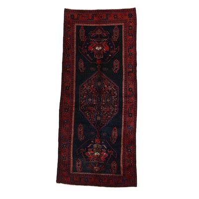 4'2 x 9'7 Hand-Knotted Persian Kurdish Long Rug