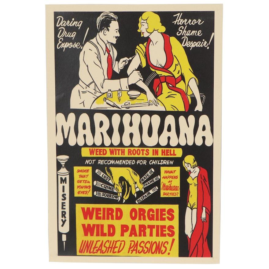 "Propaganda Giclée Poster ""Marihuana,"" 21st Century"
