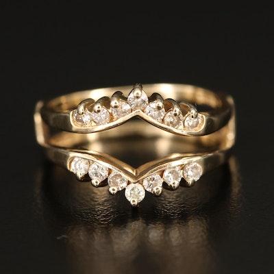 14K Diamond Double Sided Ring Enhancer