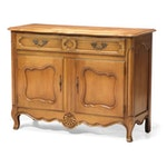 W.A. Bratburd Co. French Provincial Style Hardwood Buffet, Mid-20th Century