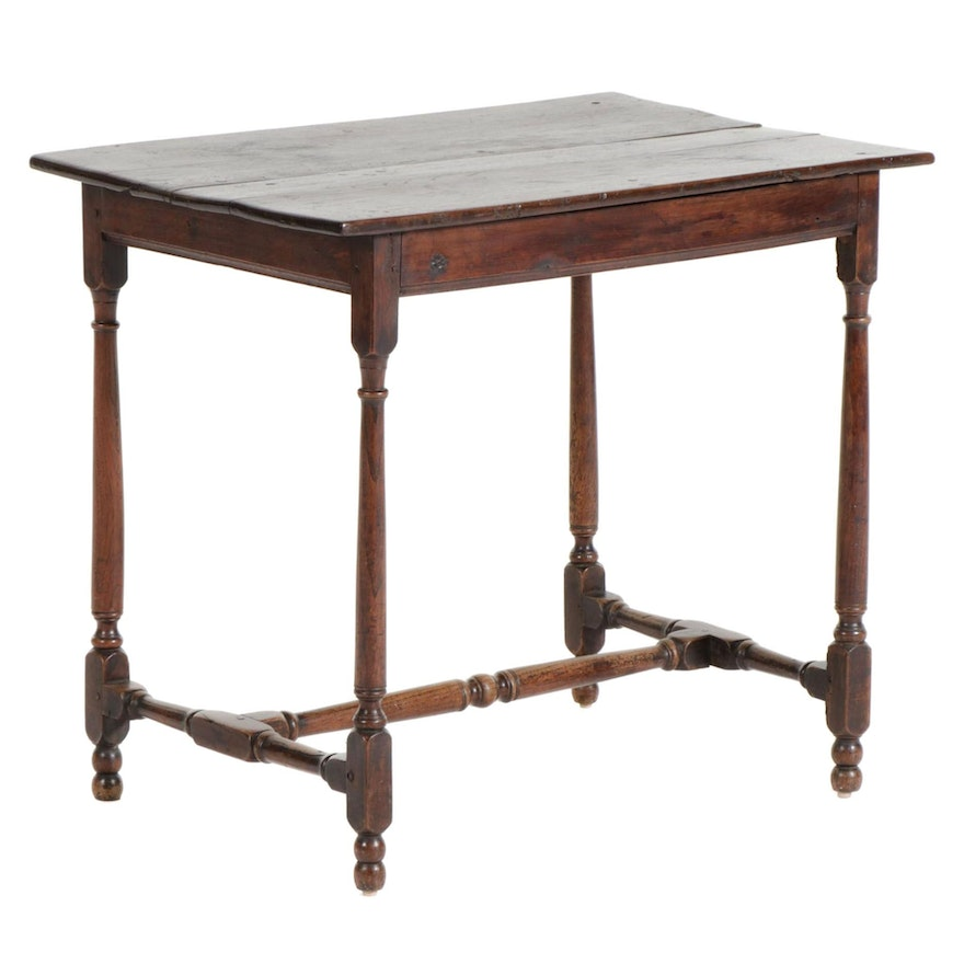 Walnut Work Table, Late 19th to Early 20th Century