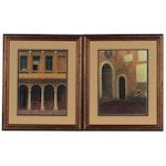 Deborah DuPont Offset Lithographs of Interior Scene, Late 20th Century
