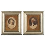 Offset Lithographs after Gilbert Stuart of George and Martha Washington