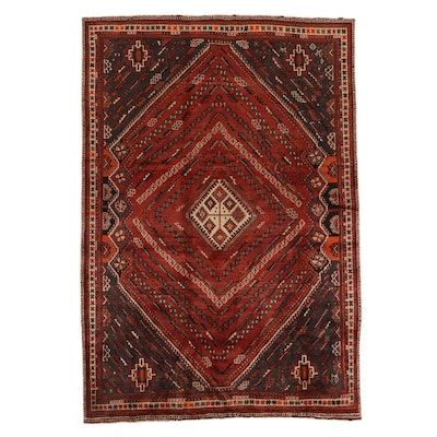 6'6 x 9'7 Hand-Knotted Persian Qashqai Area Rug