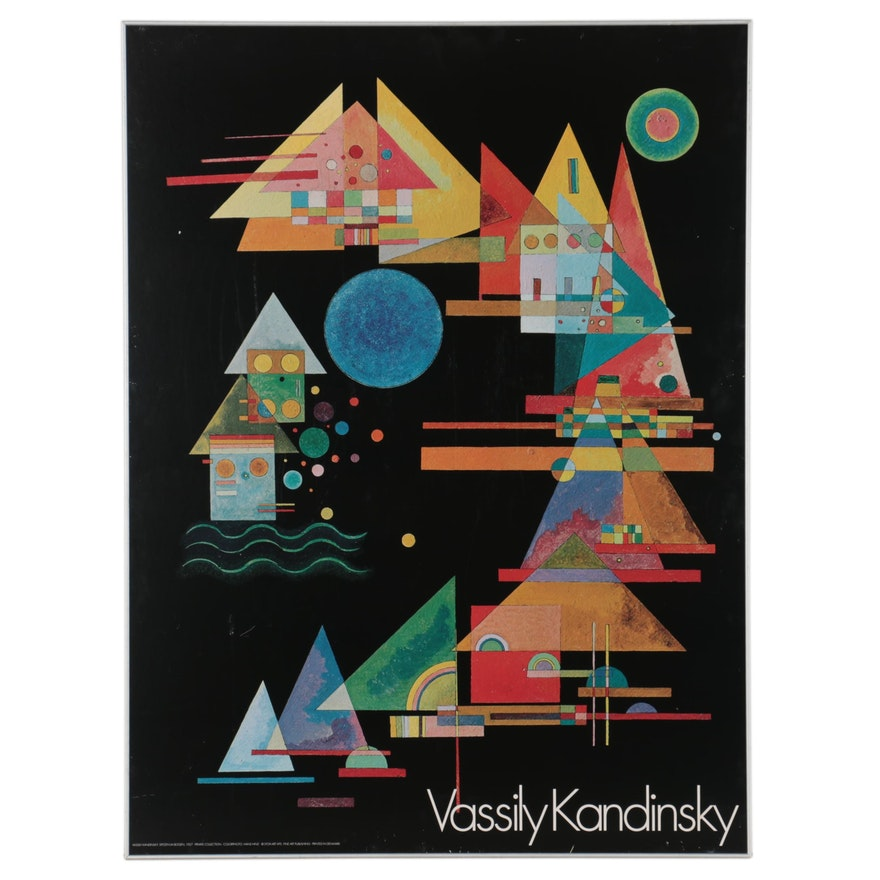 "Large-Scale Offset Lithograph Poster after Vassily Kandinsky ""Spitzen in Bogen"""