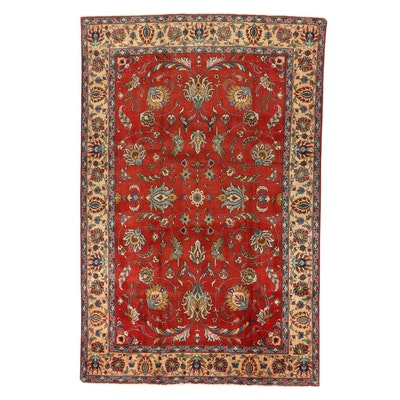 7'4 x 11'5 Hand-Knotted Persian Veramin Area Rug