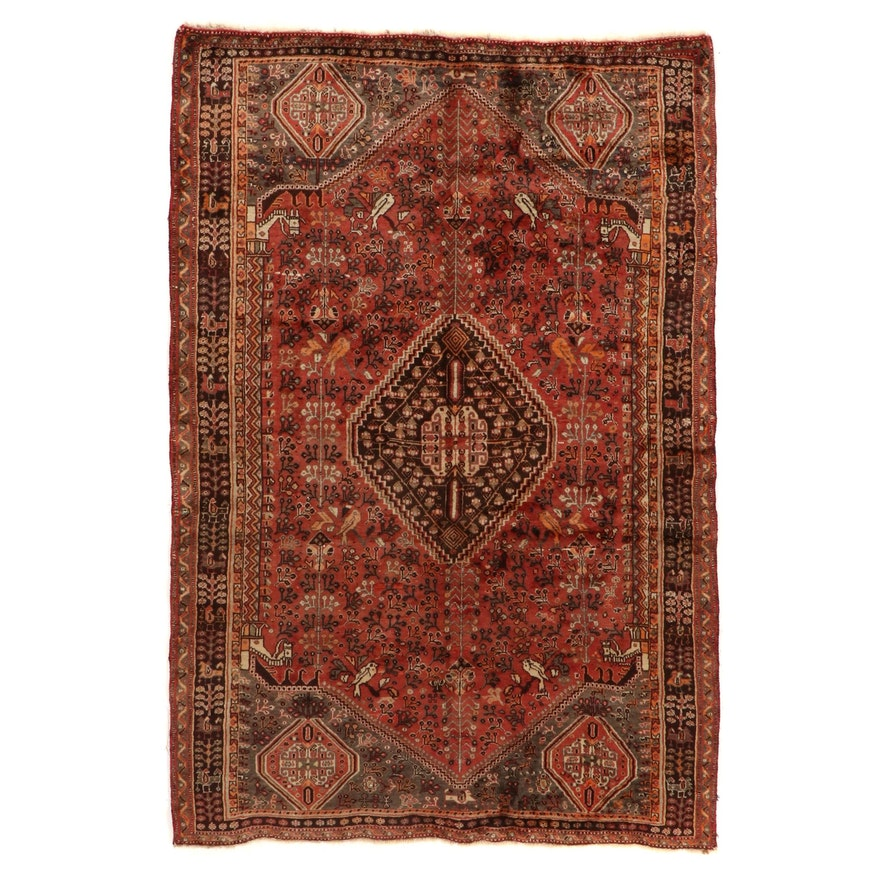 5'2 x 7'10 Hand-Knotted Persian Qashqai Area Rug
