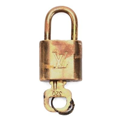 Louis Vuitton Brass Padlock and Key
