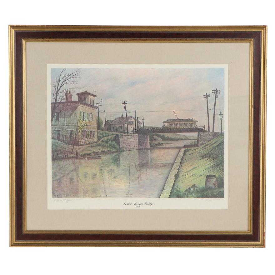 """William R. Jones Offset Lithograph """"Ludlow Avenue Bridge 1905"""""""