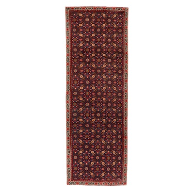 3'4 x 10' Hand-Knotted Northwest Persian Herati Long Rug