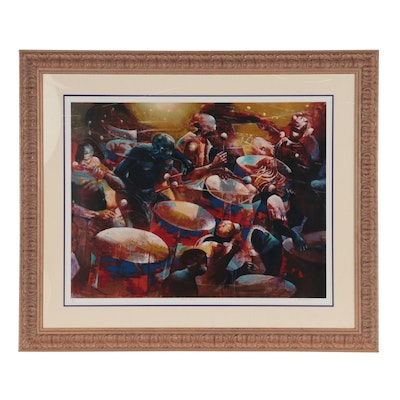 """Paul Goodnight Large-Scale Serigraph """"Musical Thunder,"""" circa 1999"""