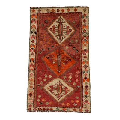 3'4 x 5'6 Hand-Knotted Persian Qashqai Gabbeh Area Rug