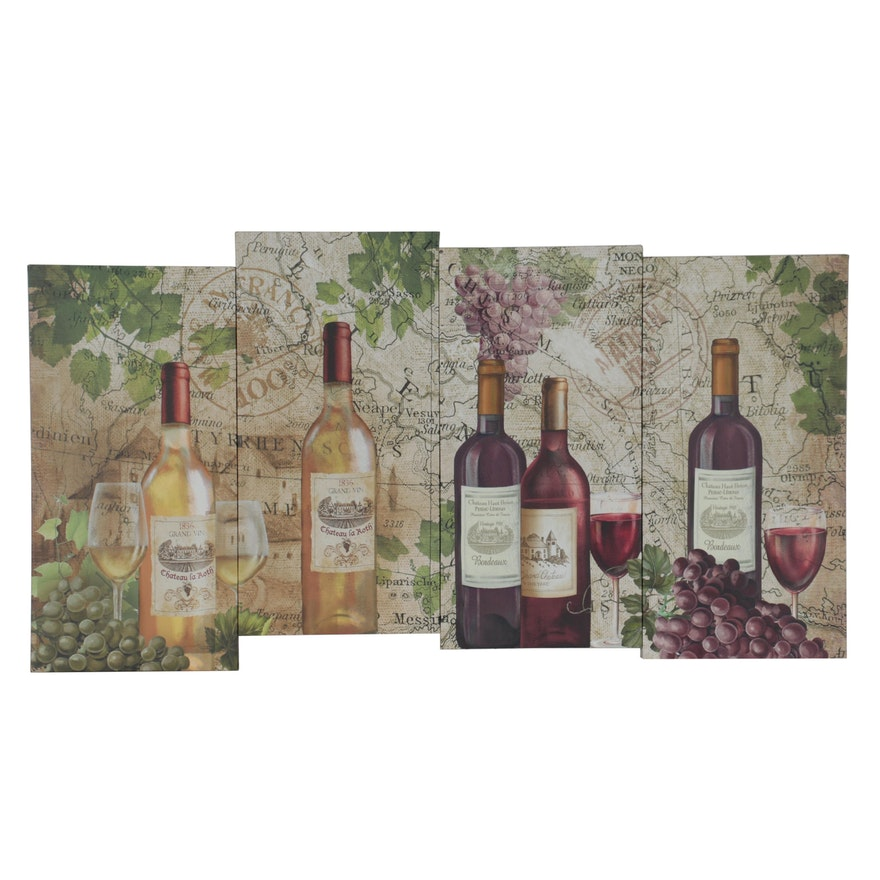 At Home Wine-Themed Giclée, 21st Century