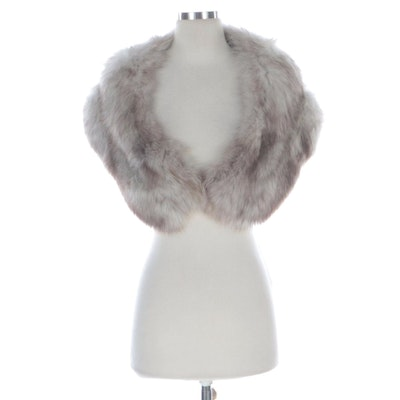 Silver Fox Fur Stole by Sincerely Gidding Jenny