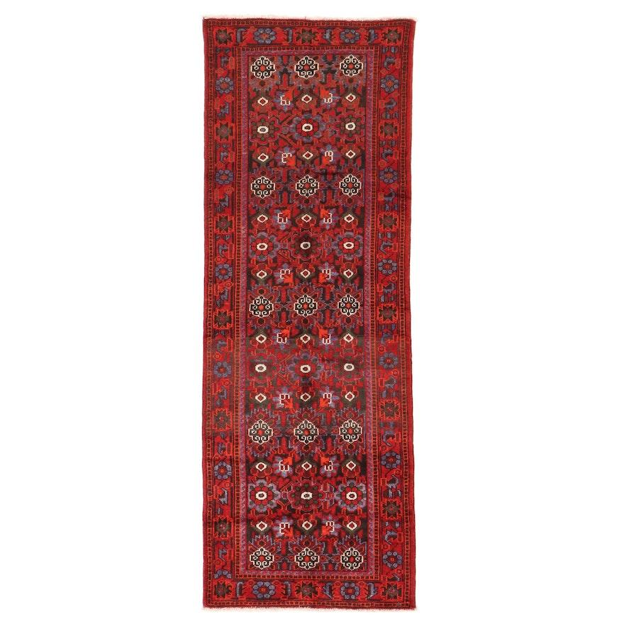 3'6 x 9'9 Hand-Knotted Persian Kurdish Long Rug