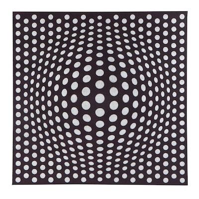 "deSanto Op Art Acrylic Painting ""Perfect Illusion XV,"" 2021"