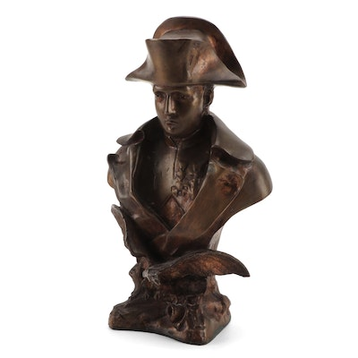 Patinated Bronze Bust of Napoleon after O. Ruffony