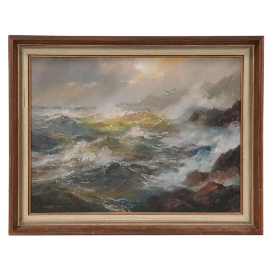 Gertrude Grigorov Seascape Oil Painting