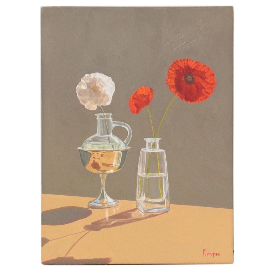 """Peter Lentini Oil Painting """"Sussurro"""""""