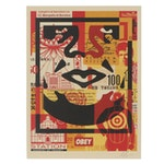 """Shepard Fairey Offset Print """"OBEY 3-Face Collage,"""" 2021"""