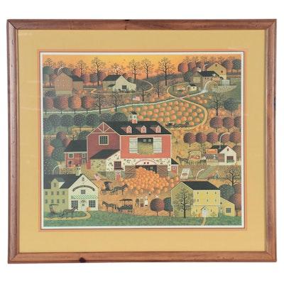 "Charles Wysocki Offset Lithograph ""Butternut Farms"""