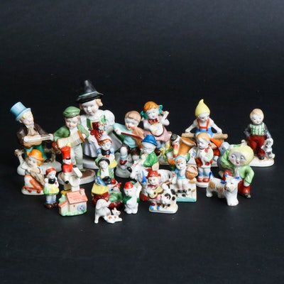 Occupied Japan Ceramic Storybook Characters and Other Figurines