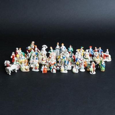 Occupied Japan Ceramic Figurines, Mid 20th Century